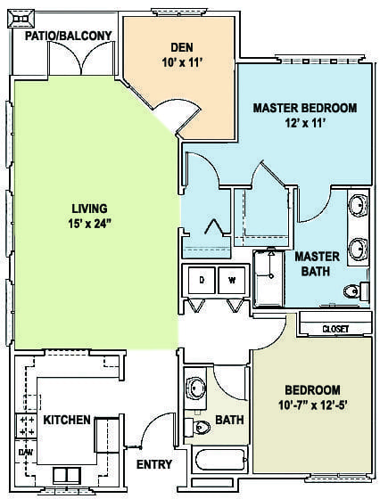 Cottages - Two Bedroom